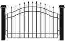 aluminum fence icon